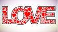 Love text Royalty Free Stock Photo