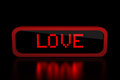 Love text on digital display Stock Image