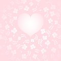 Love themed background vector illustration Stock Image