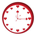 Love time loving clock vector illustration art Stock Images