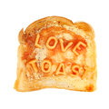 Love on toast Stock Photography