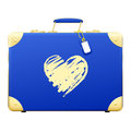 Love travel case whitebackground Royalty Free Stock Image