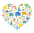 Love of travel travel icons vector illustration Royalty Free Stock Photography
