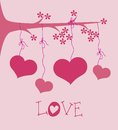 Love tree design over pink background vector illustration Royalty Free Stock Image