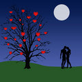 Love tree illustration Stock Photo