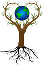 Love tree and planet earth