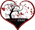 Love Tree Vector Illustration Texture Royalty Free Stock Images