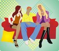 Love triangle Stock Photography