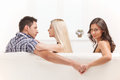 Stock Photography Love triangle.
