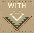 With love tribal graphic christmas greeting card Stock Image