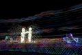 Love by Ukranian sculptor Alexandr Milov at Burning Man 2015 Royalty Free Stock Photo