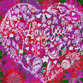 Love valentine background with heart Stock Image