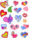 Love valentine hearts Royalty Free Stock Photography