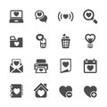 Love and valentine for internet icon set, vector eps10