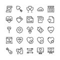 Love and Valentine Line Vector Icons 17