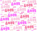 Love for valentine many design Royalty Free Stock Images