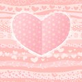 Love valentine s day wedding heart card waves seamless background Royalty Free Stock Photos