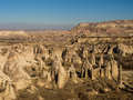 Love Valley Rock Pillars in Cappadocia, Turkey Royalty Free Stock Photo