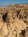 Love valley in cappadocia turkey rock formations near goreme Royalty Free Stock Photography