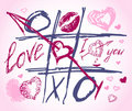 Love vector doodles. Set icon - hand drawn hearts Royalty Free Stock Image