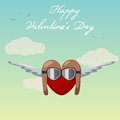 Love vector st valentines day greeting card Royalty Free Stock Photos