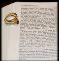 Love verse with rings Royalty Free Stock Photo