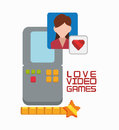 Love video game portable girl character