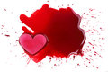 Love violent ice shape heart on fake blood Royalty Free Stock Images