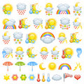 Love weather icons Royalty Free Stock Photography