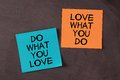 Love What You Do and Do What You Love Royalty Free Stock Photo