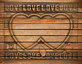 Love wood frame Royalty Free Stock Photo