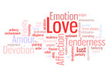 Love Word Cloud Royalty Free Stock Photography