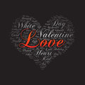 Love ,Word Cloud Art Background