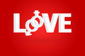 Love word concept vector illustration Royalty Free Stock Image