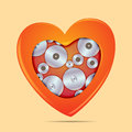 Love works vector illustration of warm heart and its inside eps file with transparencies Royalty Free Stock Photo