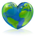 Love the world heart concept a conceptual illustration for loving globe in shape of a could be used for environmental or travel Royalty Free Stock Images