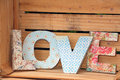 LOVE written with wooden letters Royalty Free Stock Photo