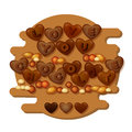 Love You Chocolate card with hearts, letters and nuts . Vector. Royalty Free Stock Photo
