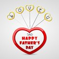 Love you dad easy to edit vector illustration of heart in father s day Royalty Free Stock Photos