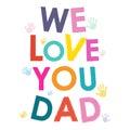 My vy táta šťastný Den otců karta