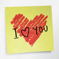 Love you words and heart symbol Royalty Free Stock Photography