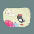 Lovebirds floral card template vector eps Stock Photo