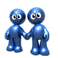 Lovely 3d icon couple holding hand Royalty Free Stock Photo