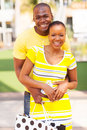 Lovely afro american couple portrait of with shopping bag Royalty Free Stock Photo