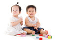 Lovely asian babies Royalty Free Stock Photo