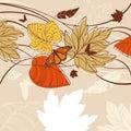 Lovely autumn card Royalty Free Stock Photos