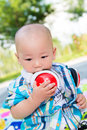 Lovely baby innocent and chinese Royalty Free Stock Photo