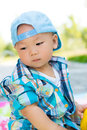 Lovely baby innocent and chinese Royalty Free Stock Image
