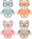 Lovely baby teddy bear with glasses scalable vectorial image representing a isolated on white Stock Photography