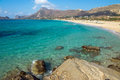 Lovely beach on crete island the beautiful falassarna greece Stock Image